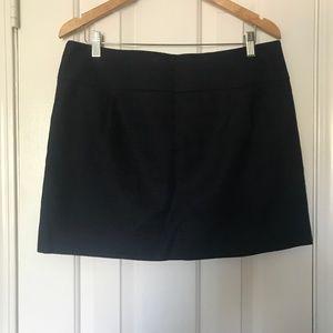 J.Crew Textured Cotton Mini Skirt NAVY